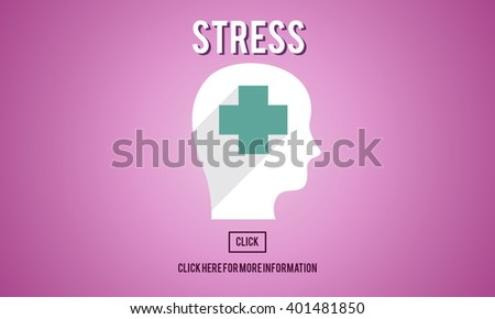 Stress Depression Anxiety Expression Frustration Concept - stock photo