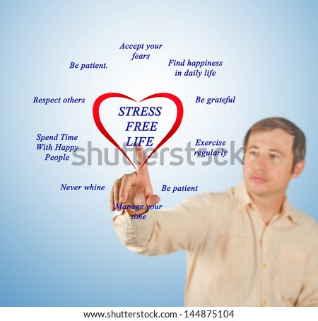 Stress free lifestyle tips - stock photo