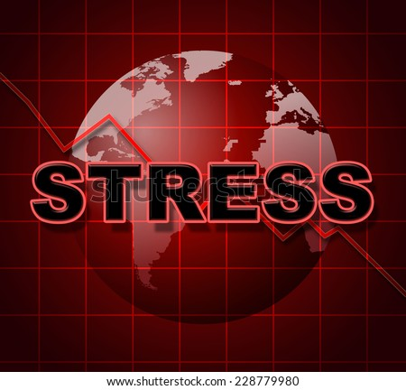 Stress Graph Showing Pressure Statistic And Pressured - stock photo