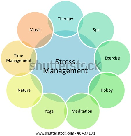 Stress Management business strategy concept diagram illustration - stock photo