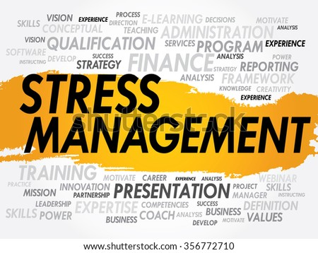 Stress Management word cloud, business concept background - stock photo