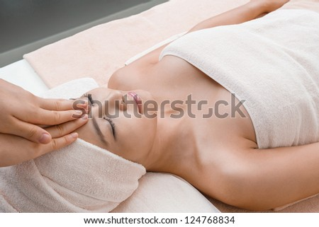 Stress relaxation massage in Thai spa