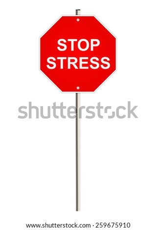 Stress. Road sign. Raster.