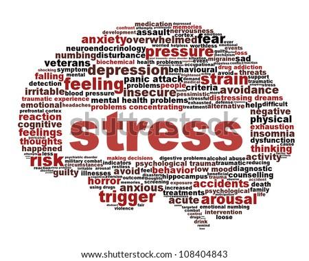 Stress Symbol Isolated On White Background Stock Illustration