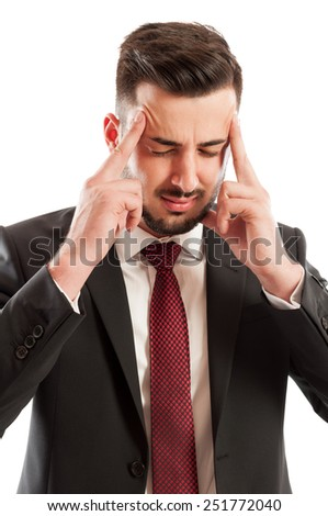 Stressed business man concept - stock photo