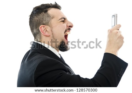 Stressed call - stock photo