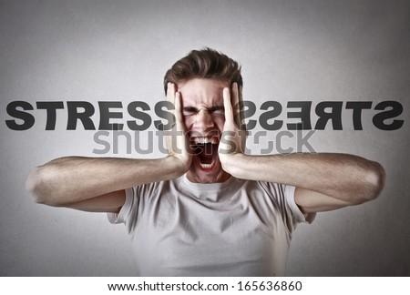 Stressed Guy - stock photo
