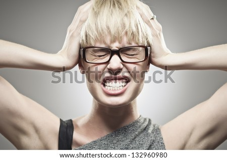 Stressed Out - stock photo