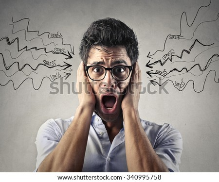 Stressed out employee - stock photo