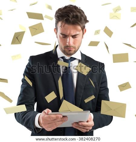 Stressed spam - stock photo