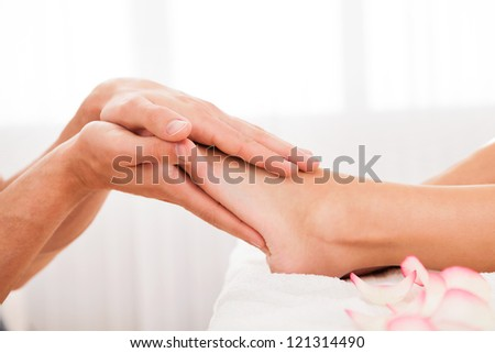 Stressed toes needs to relax after busy work week. - stock photo