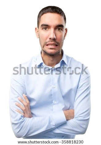 Stressed young man
