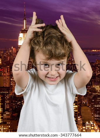 Stressful life in the city - stock photo