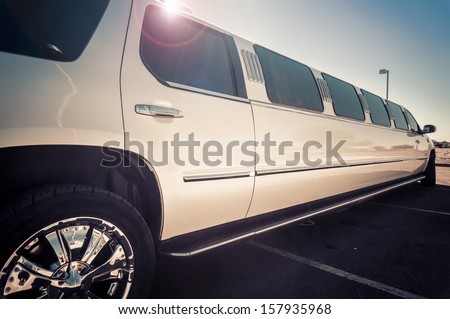 Stretch limo - stock photo