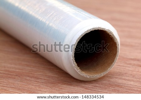 Stretch wrapping film - stock photo