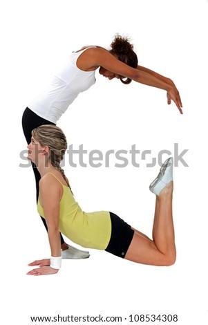 Stretching Exercises - stock photo