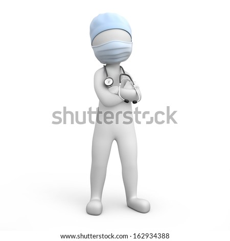 strict doctor. image with a work path - stock photo