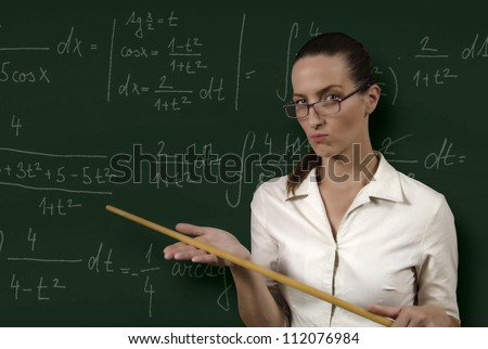 strict teacher - stock photo