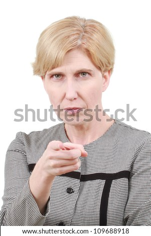 Strict woman - stock photo