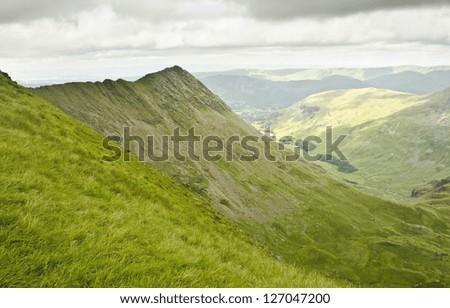 Striding Edge, Lake District - stock photo