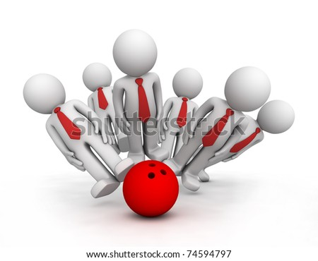 Strike! Conceptual business illustration. Isolated - stock photo