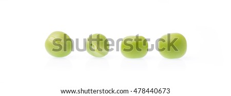 string bean isolated on white background