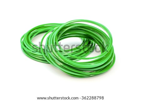 String of grass cutter on white background