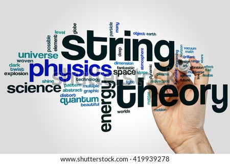 String theory word cloud concept - stock photo