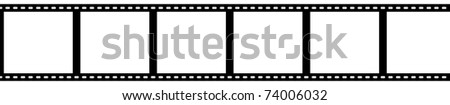 strip 35mm film with clipping paths - stock photo