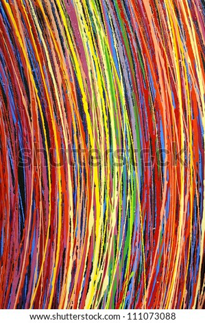 Stripe pattern : paint oil colors on canvas - stock photo