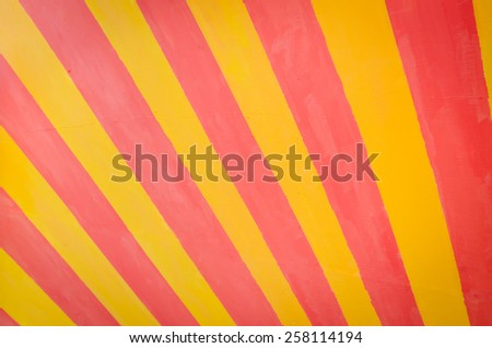 stripe pattern paint, red and yellow - stock photo
