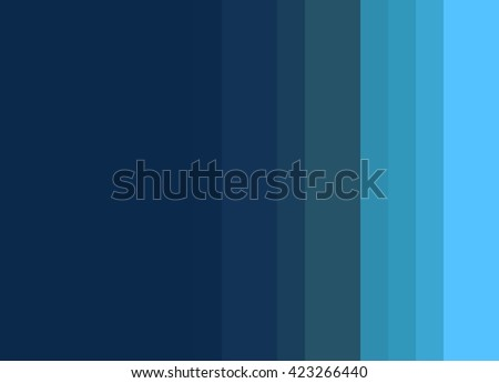 Striped Background, bright turquoise to deep blue gradient, vertical stripes, color palette - stock photo