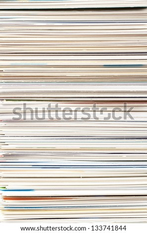 striped background from stack of business cards - stock photo