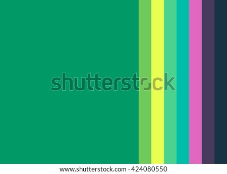 Striped Background in bright green/yellow/turquoise/pink/navy, vertical stripes, color palette - stock photo