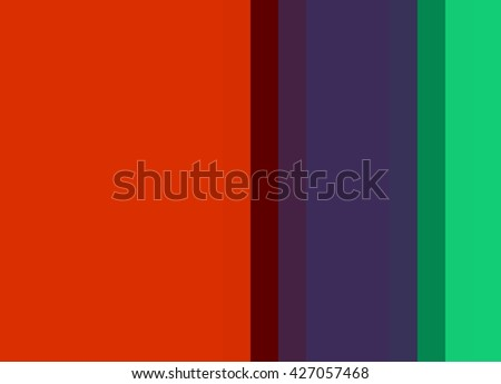 Striped Background in bright red/deep purple/emerald green, vertical stripes, color palette background  - stock photo
