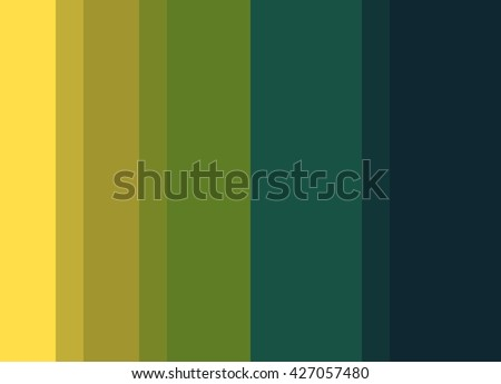 Striped Background in bright yellow/green/teal/deep blue gradient, vertical stripes, color palette background  - stock photo