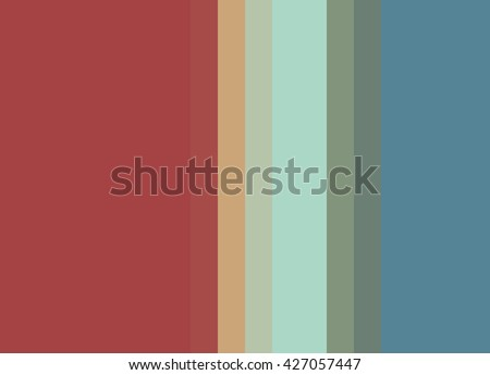 Striped Background In Muted Red Peach Aqua Olive Blue Vertical Stripes