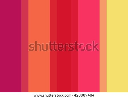 Striped Background in vivid pink/orange/red/yellow, vertical stripes, color palette background  - stock photo
