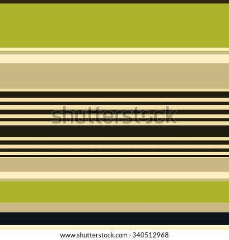 striped background with abstract thick and thin random lines in bright olive green, black, brown and beige colors, artsy background stripes with smooth texture - stock photo