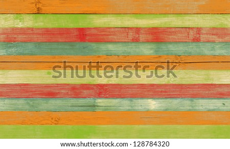 Striped bamboo wood board seamless tiled texture. Colored background - stock photo