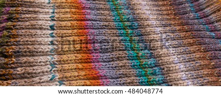 striped colorful wool texture handmade patten closeup macro blue red green yellow pink purple orange beige brown