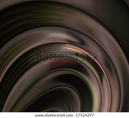 Striped contour layers - fractal abstract background