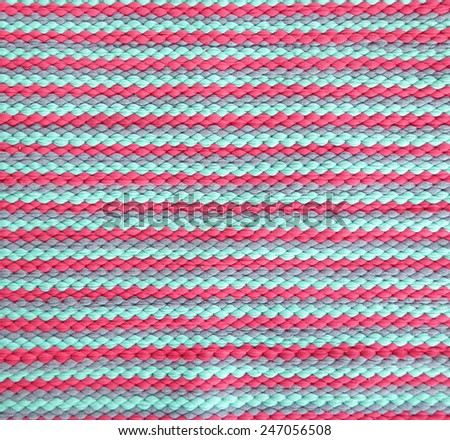 Striped crisp colorful woolen fabric - stock photo