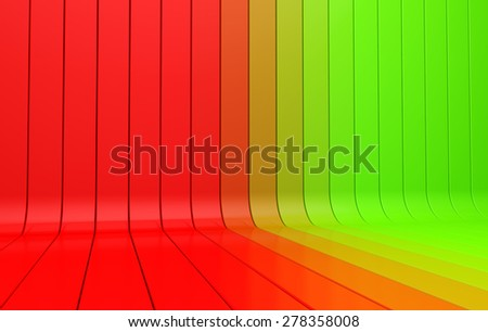 striped 3d background gradient color from green to the red