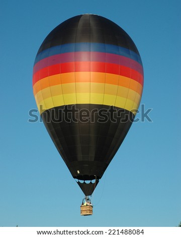 Striped Hot Air Balloon