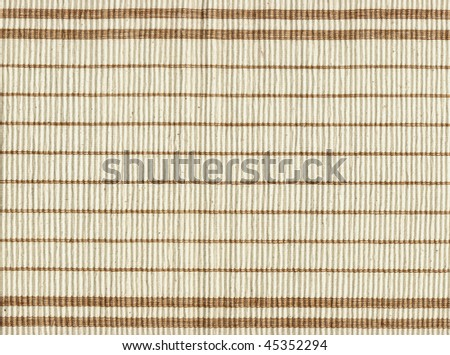 striped kitchen napkin - stock photo