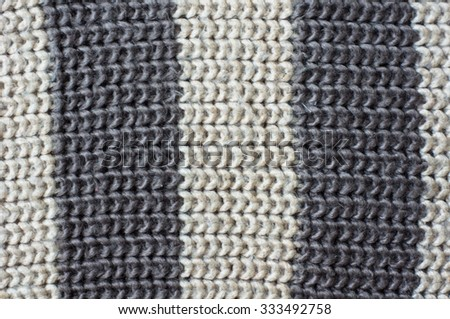 Striped Knitted scarf as a background