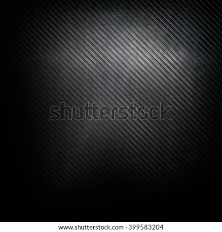 striped metal plate background - stock photo