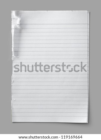 Striped paper note - stock photo