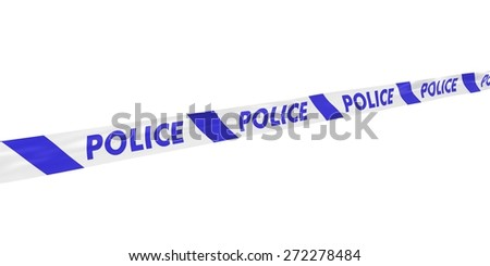 Striped Police Tape at Angle